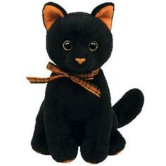 TY Beanie Baby - SNEAKY the Black & Orange Cat (6 inch)
