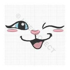 Embroidery Files, Embroidery Patterns, Machine Embroidery, Sewing Patterns, Cat Drawing, Doll Face, Animal Drawings, Cat Art, Easy Drawings