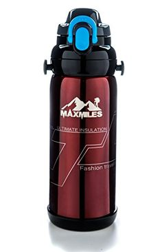 b01e3a498f Outdoor Traveling Hiking Cycling Sport Bottle and Stainless Steel Vacuum  Thermos (Red)