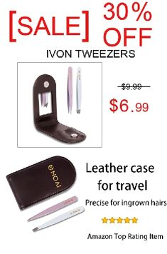 [ SALE ] 30% DISCOUNT FOR IVON TWEEZERS FOR EYEBROWS PRECISE FOR INGROWN HAIRS - AMAZON TOP RATING ITEM Ingrown Hair Removal, Ingrown Hairs, Amazon Online Shopping, Discount Online Shopping, Eyebrow Styles, Anniversary Sale, Leather Case, Beauty Skin, Eyebrows