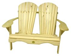 (1) The Bear Chair Bc800p White Pine Adirondack Loveseat Patio Porch Chair Kit