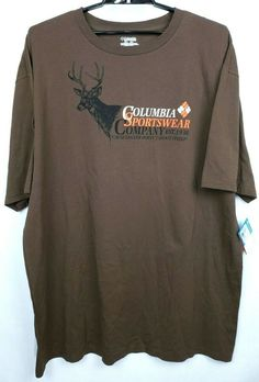 c0ac5c23728d Columbia PHG Sportswear Deer Graphic 3X Tall Brown Short Sleeve T Shirt  Hunting | Clothing,