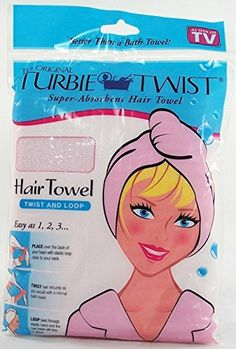 The Original Turbie Twist Super Absorbent Hair Towel Pink -- To view further for this item, visit the image link.(This is an Amazon affiliate link and I receive a commission for the sales)