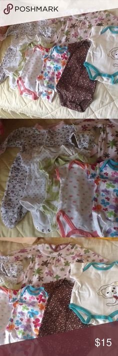Selling as lot for baby girl 0-3 months Onesies and bodysuit for baby girl 0-3 months Carter's One Pieces Bodysuits