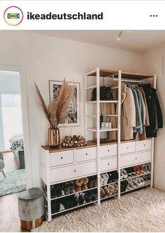 Ikea Elvarli Master Closet, Walk In Closet, Elvarli Ikea, Ikea Hall, Dressing Room Decor, Ikea Closet, Interior Decorating, Interior Design, Tumblr Rooms