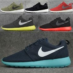 Running shoes, Athletic Shoes, Nike running shoes men's shoes authentic ROSHE RUN mesh casual couple shoes 511881-003-443