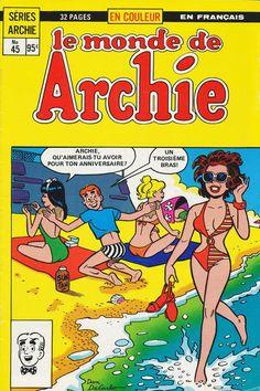 GCD :: Cover :: Le Monde de Archie #45 Cover, Comic Books, Comics, Beach, The Beach, Beaches, Cartoons, Cartoons, Comic
