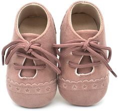 Baby Girl Pre-Walker soft sole PU Patent upper with rosette puff foot detail