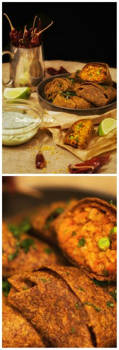 """My lunch yesterday, which I have to say was very Good!!!  RawVegan Samosas for """"cooking"""" fanatics - Click forthe recipes https://www.facebook.com/deviliciouslyraw"""
