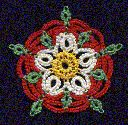 """English Tudor Rose by Rosemarie Peel - click on """"Patterns"""" to reach this pattern"""