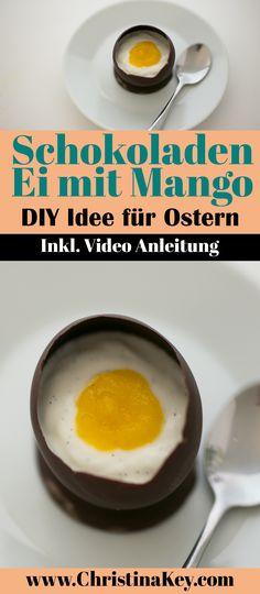 Rezept Idee für Ostern mit Schokolade - Süßes Schoko Ei mit Mango Püree - Das schönste DIY Oster Projekt aller Zeiten! Jetzt entdecken auf CHRISTINA KEY - dem Fotografie, Blogger Tipps, Rezepte, Mode und DIY Blog aus Berlin, Deutschland