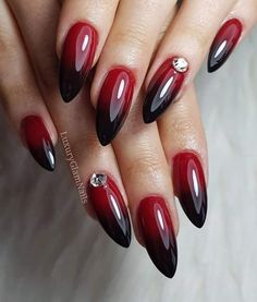 Beauty Nails – DIY nail designs # nail polish # gel nails # nail design # nail designs Cute 🍒❤️🍒 Trendy Stunning Manicure Ideas For Short Acrylic Nails Design Save MK so as not to lose … … Red autumn nails – – … Black Ombre Nails, Red Gel Nails, Maroon Nails, Almond Acrylic Nails, Ombre Nail Designs, Acrylic Nail Designs, Nail Art Designs, Gorgeous Nails, Pretty Nails