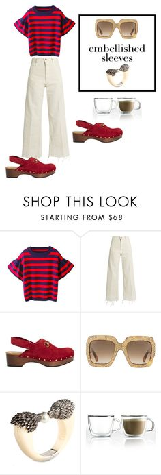 """""""preppy embellished sleevs"""" by owen-996 ❤ liked on Polyvore featuring Rachel Comey, Gucci, Miriam Salat and Bodum"""