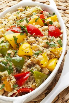 Couscous Salad is often mistaken for rice but is actually a form of semolina originating from North Africa. It can be used in salads or as a side dish.