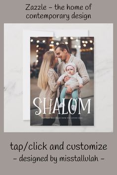 Shop Shalom White Lettering Overlay Photo Hanukkah Holiday Card created by misstallulah. How To Celebrate Hanukkah, Happy Hanukkah, Holiday Cards, Christmas Cards, Hanukkah Celebration, Multi Photo, Red Berries, Photo Cards, Family Photos
