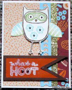 Create with Alyson: August SOTM Blog Hop - What a Hoot! #Pathfinding #ChevronBorderPunch #ArtPhilosophy