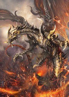 Dragon de lava