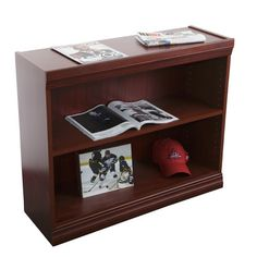 "NORSONS INDUSTRIES LLC Jefferson Traditional Series Heavy Duty Standard Bookcase Finish: Medium Cherry, Size: 48"" H x 36"" W x 12"" D"