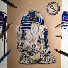 Star Wars Film, Star Wars Art, Star Wars Drawings, Art Drawings, Star Wars Desenho, Star Wars Zeichnungen, Yoda Drawing, Marilyn Monroe Artwork, Realistic Pencil Drawings
