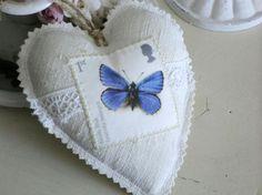 Leinen Stoffherz No 17 von White Roses auf DaWanda.com