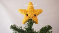 How to crochet an amigurumi star Crochet Home, Crochet Crafts, Crochet Projects, Crochet Christmas Decorations, Crochet Christmas Ornaments, Amigurumi Tutorial, Crochet Patterns Amigurumi, Crochet Stars, Crochet Videos