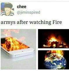 Fireeee lol XD This goes too much and half of the Earth is burning ㅋㅋ ㅋㅋ