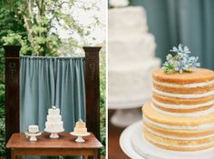 Naked cakes from Tidewater and Tulle's launch shoot | Photo by Jen + Ashley