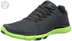 Under Armour Men's Micro G Limitless TR 2 Stealth Grey/Hyper Green/Black Synthetic Cross-Trainers Shoes 8 M US (*Amazon Partner-Link)