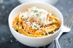 Creamy Roasted Red Pepper Zucchini Noodles   GI 365