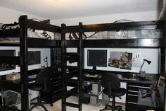 The boys' loft beds