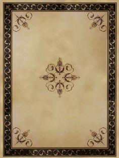 Palazzo Scroll Ceiling Stencil | Royal Design Studio
