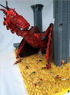 Lego Smaug et bilbo le Hobbits