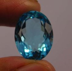 8 Cts. Natural Dyed Faceted Swiss Blue Topaz Quartz Cut Loose Gemstone (NF75) #NagmaGems
