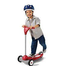 Radio Flyer My 1st Scooter Sport - Red by Radio Flyer. $39.99. 535S Color: Red Features: -Extra-wide base for better balance..-Improved steering helps develop coordination..-Easy-to-use foot brake for added control.. Specifications: -2 front wheels for maximum stability... Save 47%!
