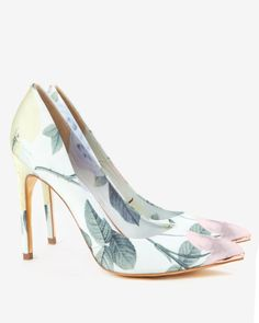 PRINTED POINT TOE COURT - Mint | Shoes | Ted Baker