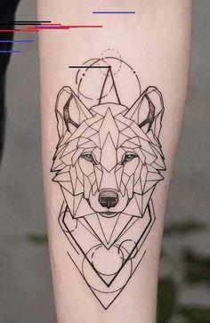 25 Wild Wolf Tattoos for Men - Geometric Wolf Tattoo - adorables funny graciosos hermosos salvajes tatuajes animales Geometric Tattoo Back, Geometric Tattoos Men, Geometric Tattoo Design, Wolf Tattoo Design, Geometric Tattoo Animal, Geometric Drawing, Forearm Tattoo Design, Geometric Graphic, Wolf Design