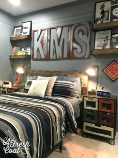 Seeing Stripes: Teen Boy Room Makeover — A Fresh Coat At the time you think about the color pink; do you consider of small kids in tutus or perhaps refined lilac home decor? Teen Boys Room Decor, Teen Boy Rooms, Boys Bedroom Decor, Bedroom Ideas, Childs Bedroom, Kid Bedrooms, Girl Rooms, Boy Teen Room Ideas, Rooms For Boys