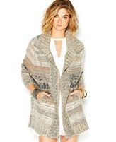 Free People Starlight Shadow Long-Sleeve Sweater Poncho
