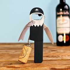 A pirate corkscrew for any wino with a hollow leg. | 23 Products For People Who Really Love To Wine