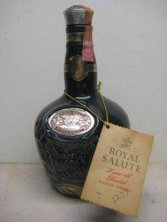 Vintage Green Ceramic Chivas Royal Salute Scotch Bottle Spode Empty | eBay