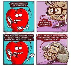 Heart Vs Mind, Memes, Feel Good, Haha, Mindfulness, Cartoon, Humor, Feelings, Comics