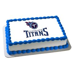 NFL Tennessee Titans Edible Cake Decoration. I want this on my 18th birthday ok?