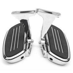 Rear Passenger Chrome Foot Board With Bracket Holder For Harley Touring 93-16