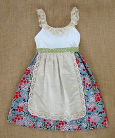 Look at this Sado Blue Farmers Market Apron Dress - Infant, Toddler & Girls on #zulily today!