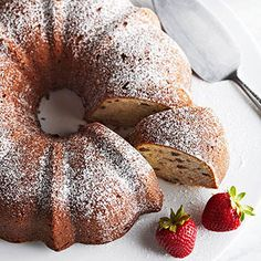 Banana-Nut Pound Cake: If you're a fan of banana bread, you'll love this pound cake flavored with bananas and bourbon. Chopped pecans add texture, and a swirl of cream cheese perfects the dense, crumbly cake.
