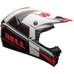 Bell Supercross and Motocross Helmet. Holeshot Red and Black. Off Road Helmets, Dirt Bike Helmets, Motocross Helmets, Bicycle Helmet, Bell Helmet, Black Helmet, Matte Black, Red Black, World Championship