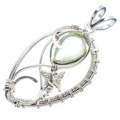 Ana Silver Co Prehnite Butterfly 925 Sterling Silver Pendant 2' *** Click on the image for additional details. #PendantsandCoins