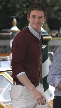Eddie Redmayne in Venice promoting The Danish Girl