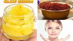 How to prepare Magical Saffron GLOW SERUM at home naturally for Crystal Clear Glowing Skin and Remove Suntan & Dark spots 100% #AcneScarsRemedies #FirmingEyeCream Vitamin C, Glowing Skin Diet, Anti Aging, Serum, Home Remedies For Skin, Natural Remedies, Dark Spots On Skin, Dark Skin, Whitening Face