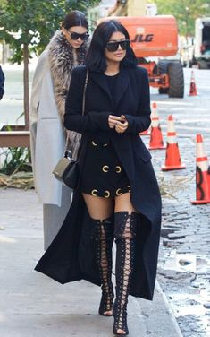shoes coat top kylie jenner fall outfits kendall jenner kendall and kylie jenner dress tunic dress jacket black jacket coat trench